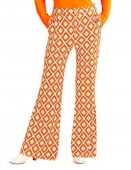 Pantalón groovy retro años 70 mujer