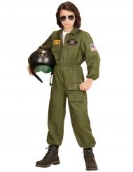 Disfraz piloto de combate niño