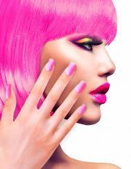 Uñas postizas adhesivas rosa adulto