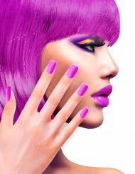 Uñas postizas autoadhesivas violeta adulto