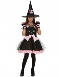 Disfraz bruja gatito niña Halloween
