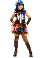 Disfraz esqueleto arcoíris niña Halloween