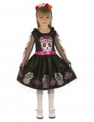 Disfraz mini calavera niña Día de los muertos