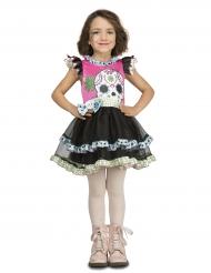 Disfraz pequeña calavera niña Día de los muertos