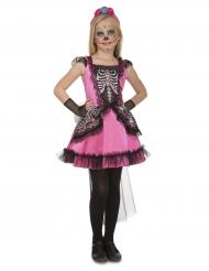 Disfraz señorita rosa Día de los muertos niña