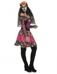 Disfraz señorita rosa mujer Día de los muertos