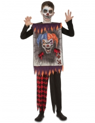 Disfraz carta payaso terror niño Halloween
