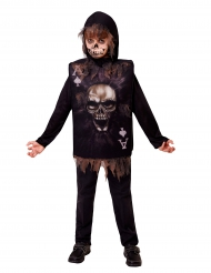 Disfraz carta esqueleto niño Halloween
