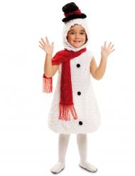 Disfraz muñeco de nieve niño Navidad