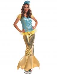 Disfraz sirena dorado mujer