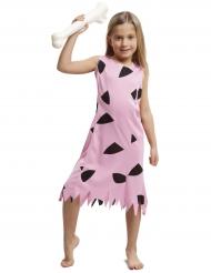 Disfraz prehitórico rosa niña