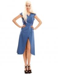 Disfraz reina de dragones azul mujer