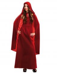 Disfraz bruja rojo mujer