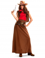 Disfraz cowgirl vestido largo mujer