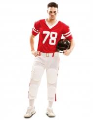 Disfraz de futbolista americano rojo hombre