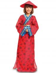 Disfraz china rojo niña