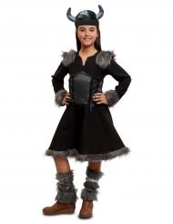 Disfraz vikingo negro niña
