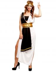 Disfraz romano negro y blanco mujer