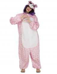 Disfraz oso rosa mujer