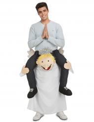 Disfraz hombre montado en ángel adulto Noel