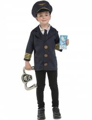 Disfraz piloto de avión con accesorios niño