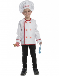 Disfraz chef de cocina con accesorios para niño