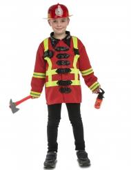 Disfraz bombero con accesorios niño