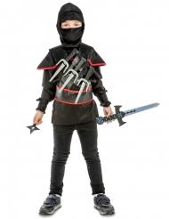 Disfraz ninja negro con accesorios para niño