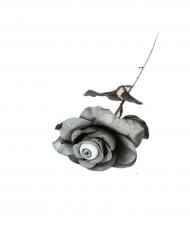 Rosa gris con ojo 40 cm Halloween