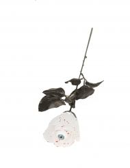 Rosa blanca con ojo 40 cm Halloween