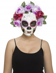 Máscara esqueleto pastel adulto Día de los muertos
