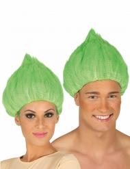 Peluca troll verde adulto