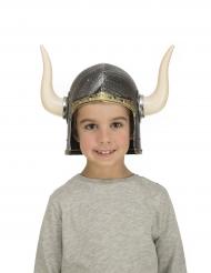 Casco de vikingo con cuernos niño