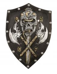 Escudo esqueleto vikingo lujo 48cm