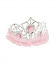 Diadema princesa con tul rosa