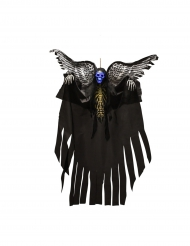 Decoración para colgar esqueleto luminoso con alas Halloween 120 cm