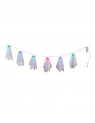 Guirlandas fantasmas luminosos Halloween 150 cm