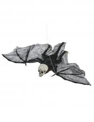 Decoración para colgar esqueleto volador Halloween 90 cm