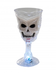 Vaso luminoso balnco calavera Halloween