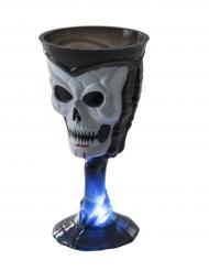 Vaso luminoso negro calavera Halloween