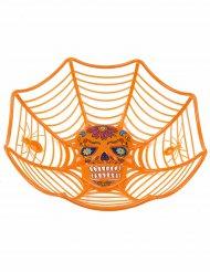 Ensaladera naranja Día de los muertos 26 cm