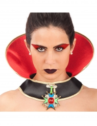 Collar vampiro Halloween mujer