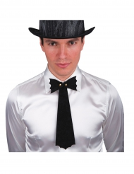 Corbata negra murciélago Halloween hombre