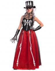 Disfraz esqueleto elegante Halloween mujer