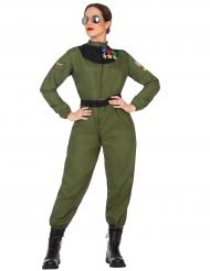 Disfraz aviador militar mujer