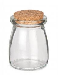 Frasco de vidrio con tapa de corcho 8 cm