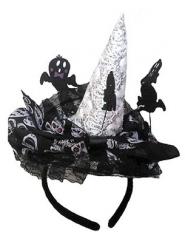 Diadema bruja esqueleto mujer Halloween