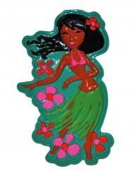 Decoración mural baile hawaiano 55 cm