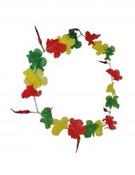 Collar hawai hincha verde amarillo rojo