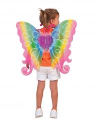 Alas corazón multicolores 60 x 54 cm